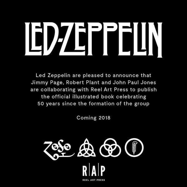 Led Zeppelin comemora 50 anos com livro ilustrado - Blog Max